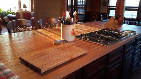 Hand Scraped White Oak Butcher Block Countertop Our Skilled Craftsman Scrape These Butcher Block Countert Butcher Block Countertops Butcher Block Countertops