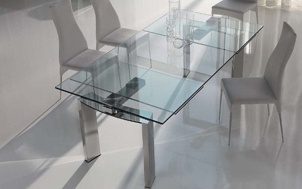 Remarkable Dining Room Decorated with Glass Top Idea and Two