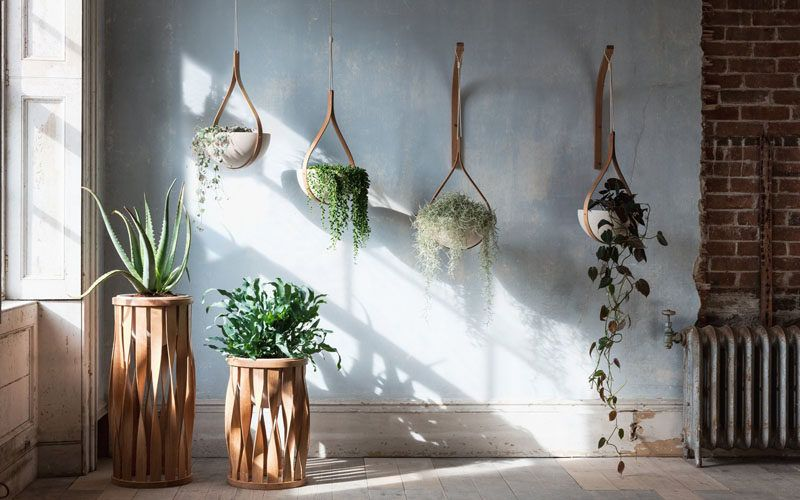 From his studios in Cornwall England designer Tom Raffield has created his new line of modern wood planters named The Green Range