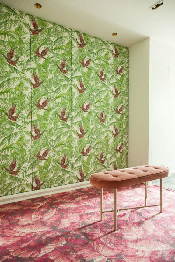 At home in le marais the colorful pinterest interior and wallpaper also rh
