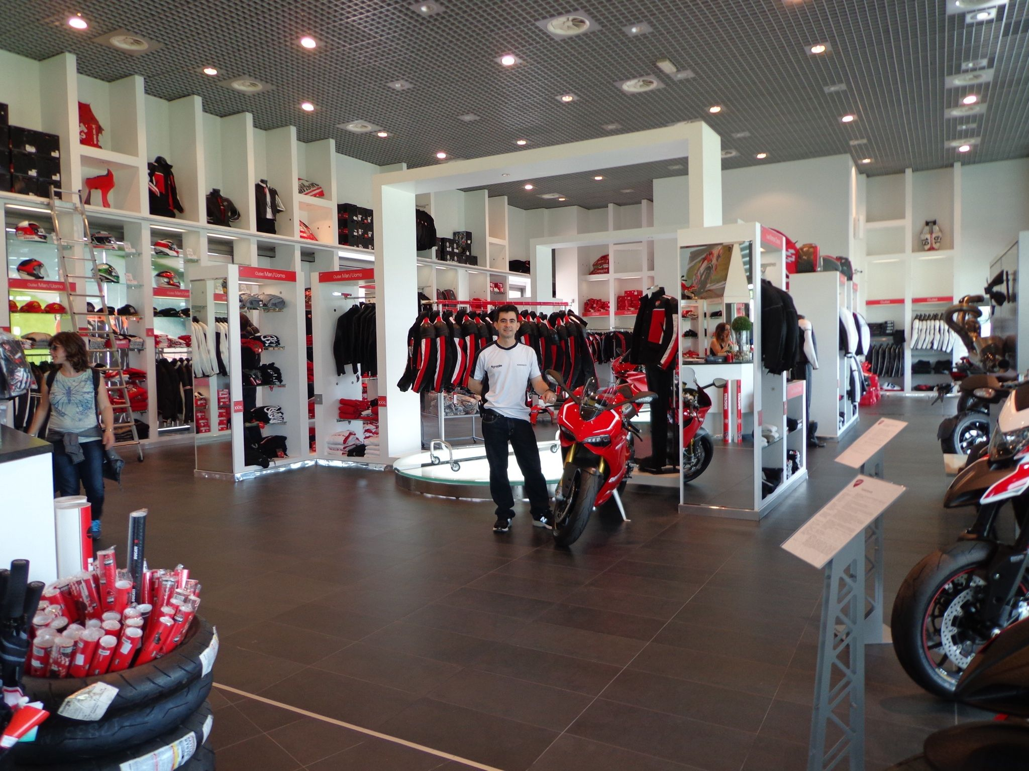 bologna ducati factory store no pictures were allowed. Black Bedroom Furniture Sets. Home Design Ideas