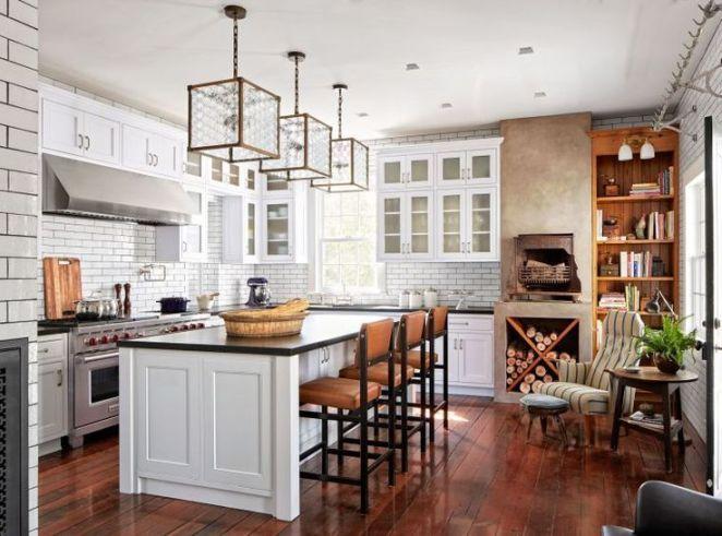 Idée relooking cuisine modele-de-cuisine-moderne-deco-rustique-style