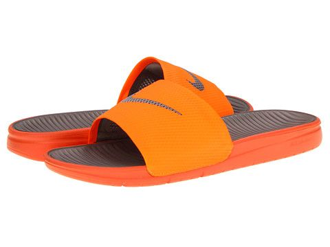 642534950cf3 Nike Benassi Solarsoft Slide Total Orange Sport Grey - Zappos.com ...