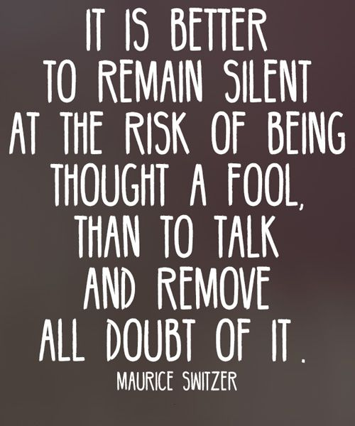 Remove All Doubt of It - Wisdom Quote   WORDS   Wisdom