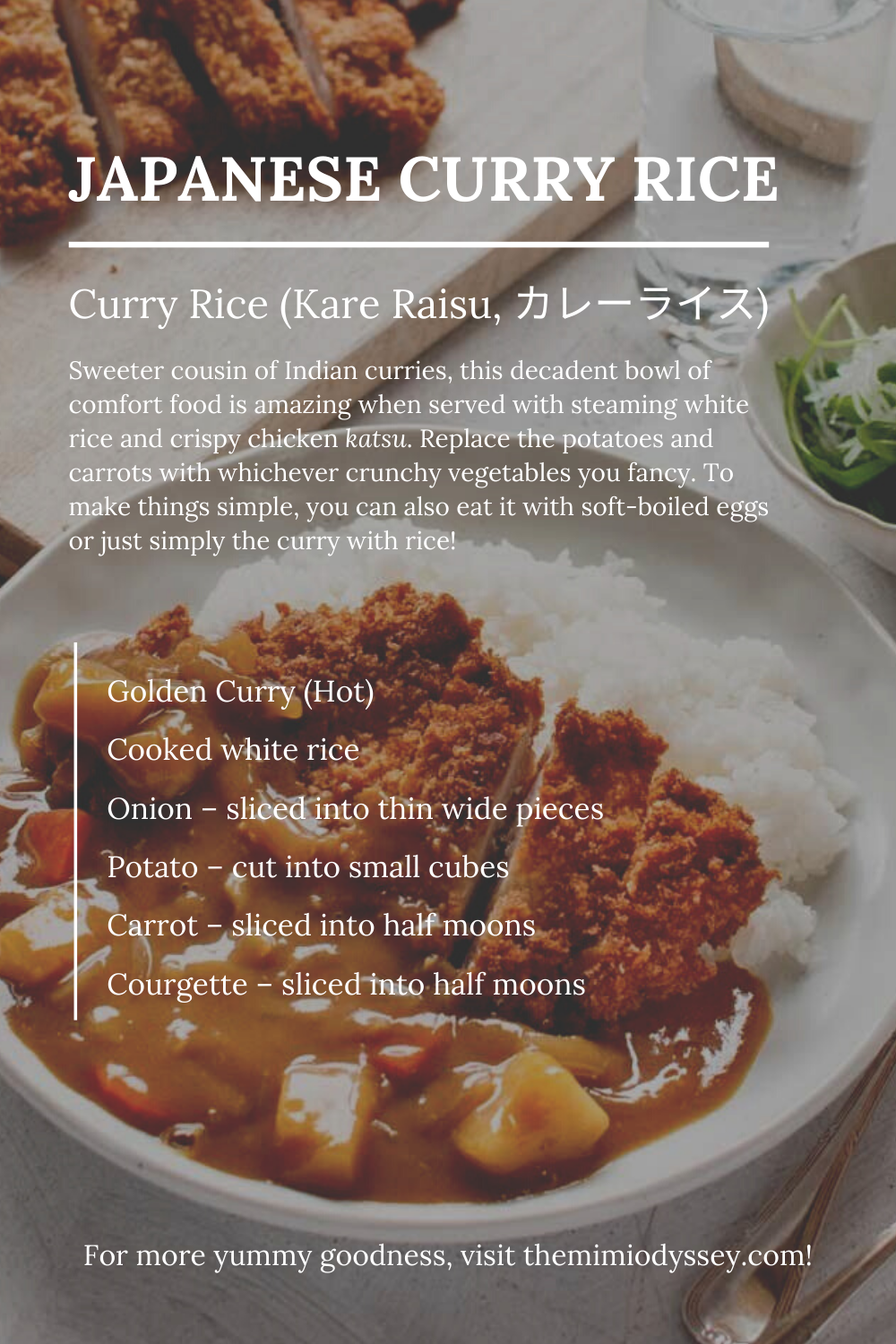 Japanese Curry Rice In 2020 Easy Meals Comfort Food Recipes