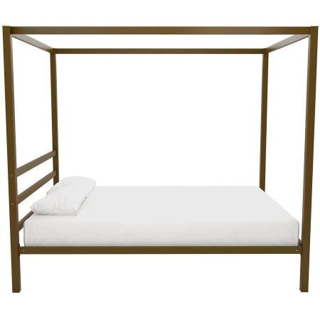 DHP Modern Canopy Bed Gold Multiple Sizes - Walmart.com  sc 1 st  Pinterest & DHP Modern Canopy Bed Gold Multiple Sizes - Walmart.com ...