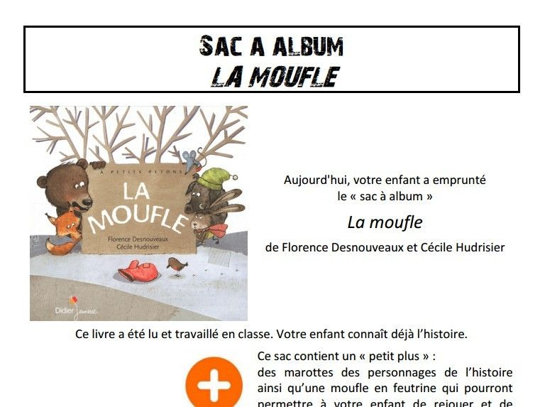 original de premier ordre acheter mieux nouvelle apparence Sac à album La moufle chez Pierrick | LA MOUFLE | La moufle ...