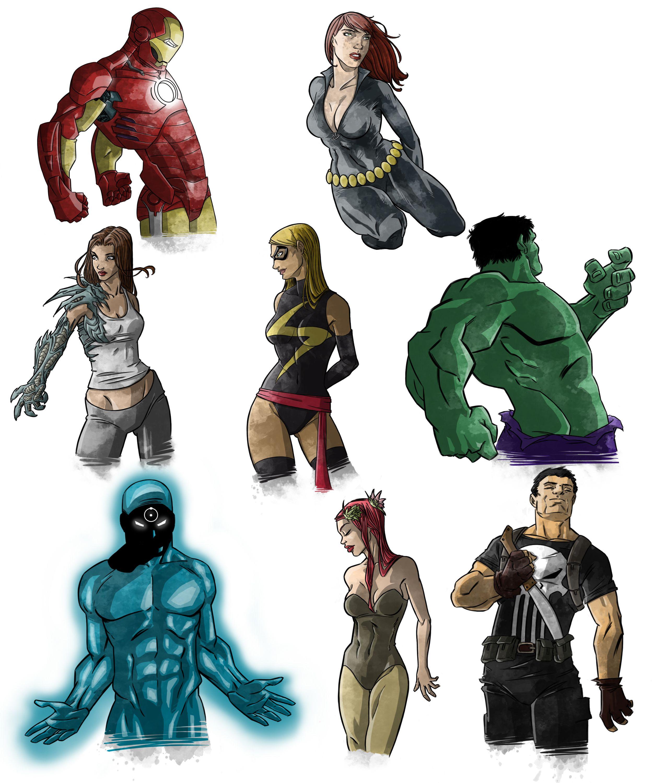 Superheroes 1  by Manuel Borras