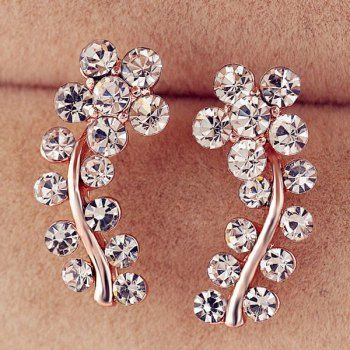 SHARE & Get it FREE | Rhinestone Flower Leaf EarringsFor Fashion Lovers only:80,000+ Items·FREE SHIPPING Join Dresslily: Get YOUR $50 NOW!