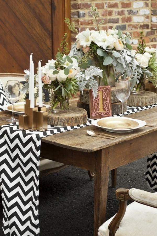 Rustic Wedding Decor Make Your Own Warm Earth Tones Chevron