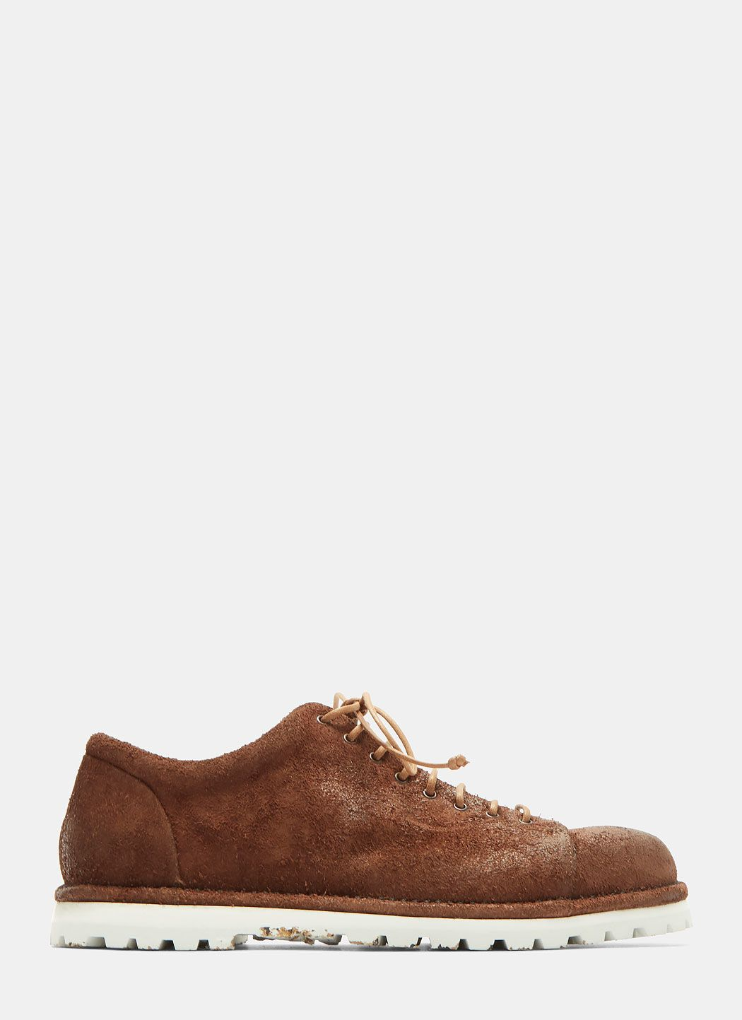 Washed-suede Loafers - BrownMarsèll DfCYQ16Kez