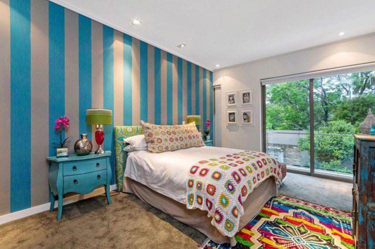 Idee camerette ~ Camerette per ragazzi con pareti decorate n camerette da