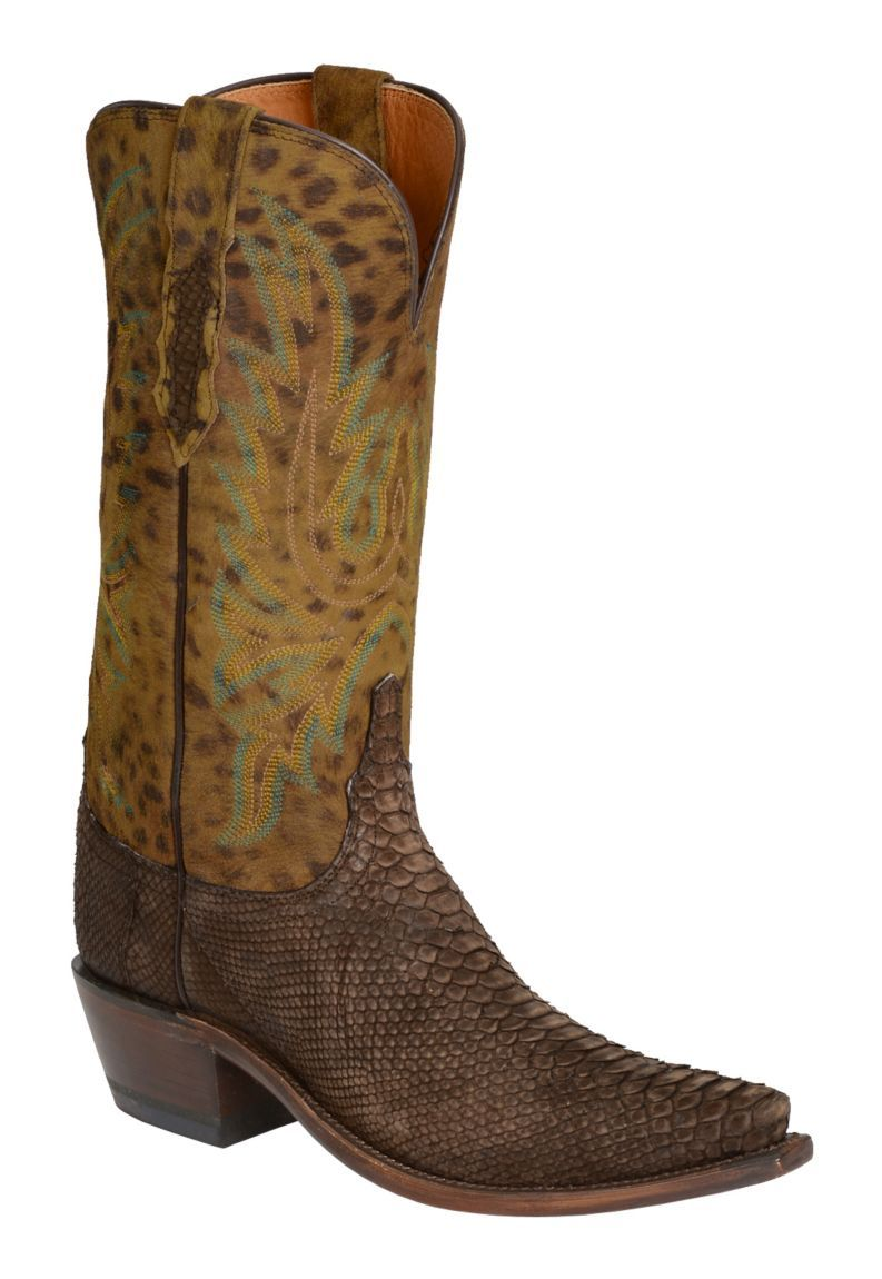 Lucchese Handcrafted 1883 Backcut Python Cowgirl Boots Snip Toe