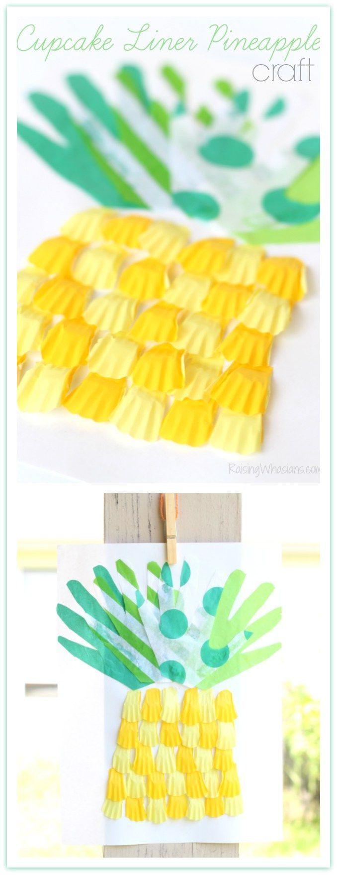 e1c8ecc3cfa Cupcake Liner Pineapple Craft