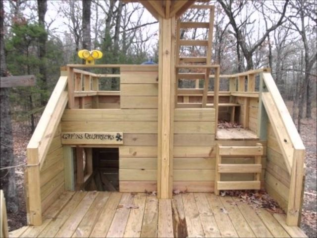 Playhouse Designs And Ideas playhouse windows and doors ideas lawn garden excellent brown striped wood laminated decoration amazinge modern painted Pallet Kids Playhouse Ideas Pic How To Build A Playhouse With