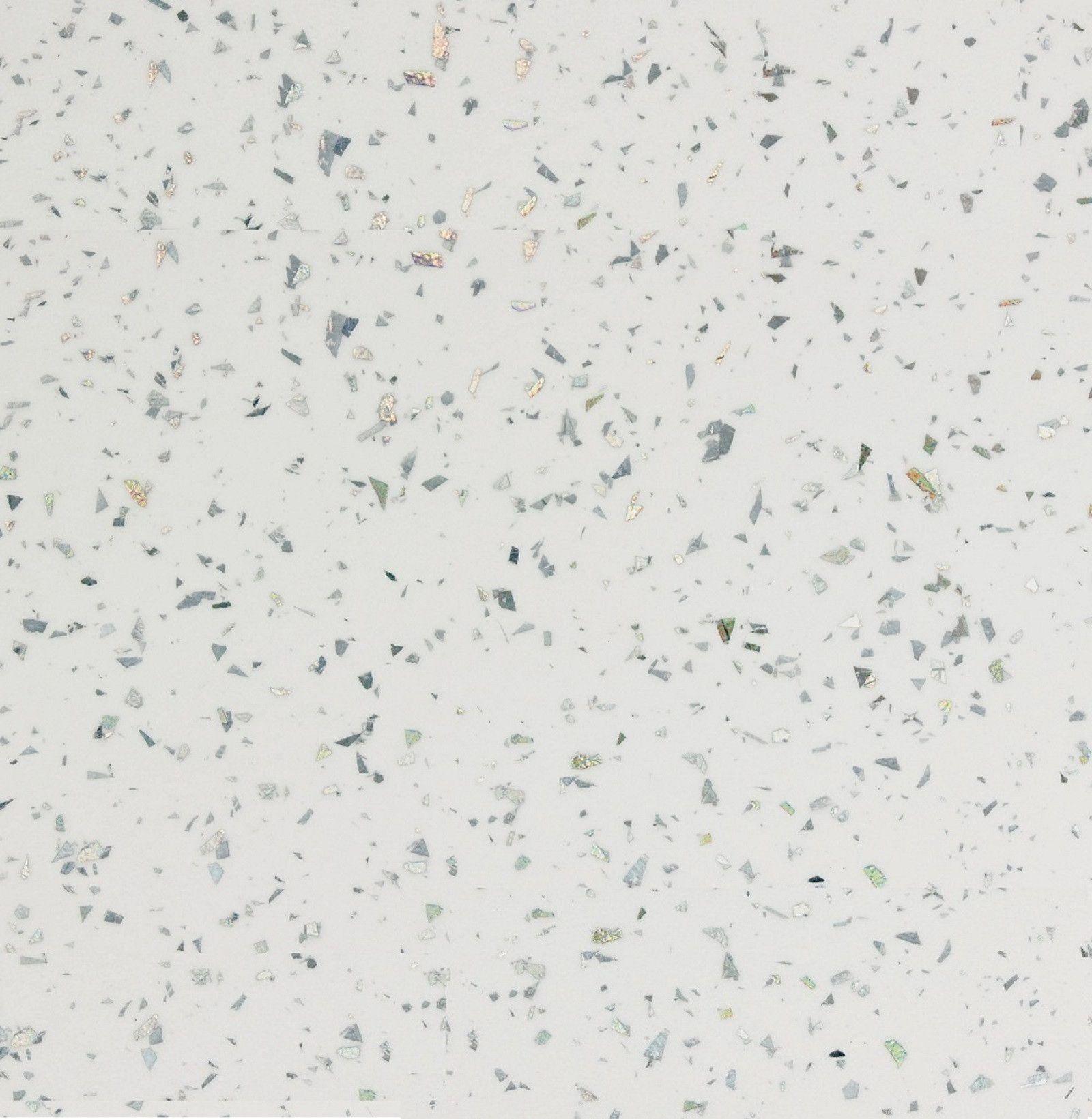 White Glitter Laminate Kitchen Worktops