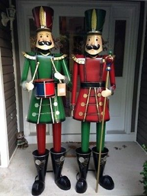 Outdoor Toy Soldier Christmas Decorations.76 Tall Iron Metal Nutcracker Christmas Decoration Indoor
