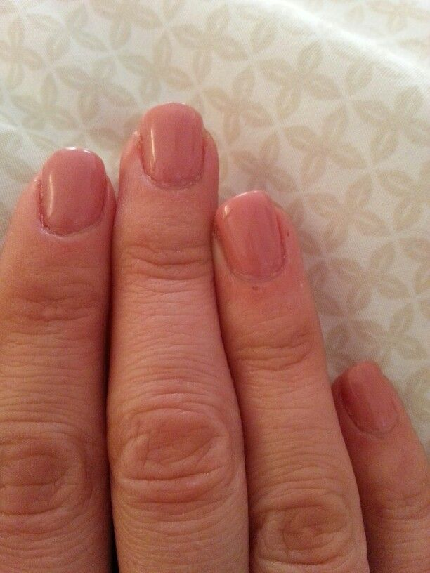Growing nails out with Gelish Vitagel Recovery. The ring and pinky ...