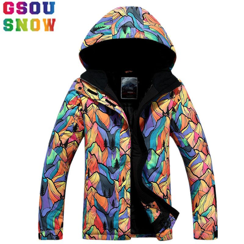 e158784d80 Gsou Snow Brand Ski Jacket Women Winter Waterproof Snowboard Jacket Outdoor  Skiing Snowboarding Camping Snow Clothes
