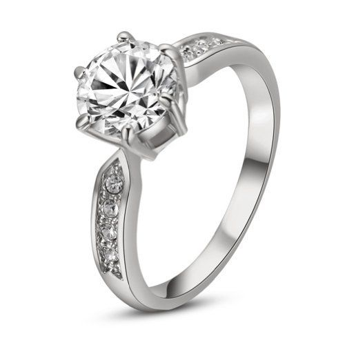 Yours 18k White Gold Plated Rhinestone J...