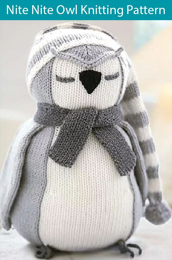 Knitting Pattern for Nite Nite Owl