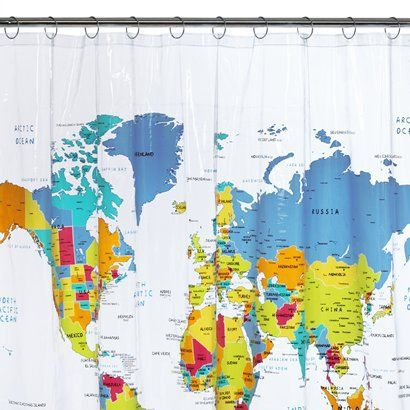 World map shower curtain 72x72 i have this on my wall as our class world map shower curtain 72x72 i have this on my wall as our class map gumiabroncs Gallery