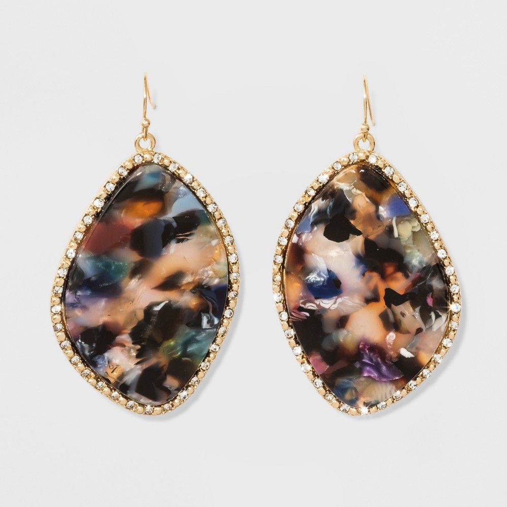 Sugarfix by BaubleBar Resin Drop Earrings - Navy (Blue