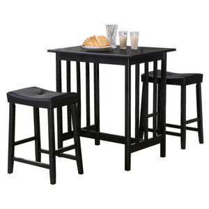 Table 2 Saddle Stools 5310bk At Walmart Ca Dining Room Furniture Sets Bar Table Sets Kitchen Dining Sets