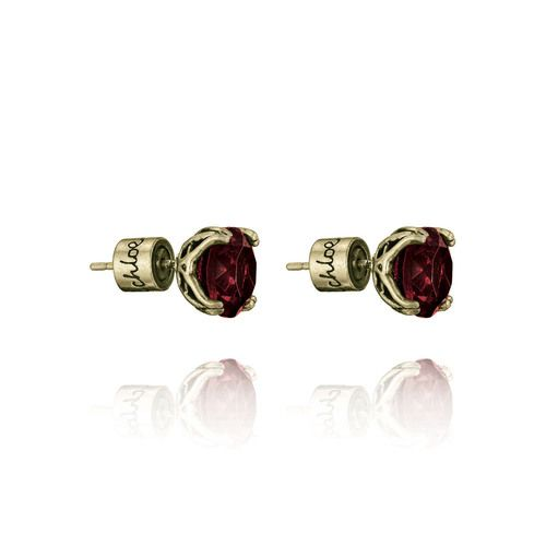 Round Garnet Stud Earrings | Chloe + Isabel