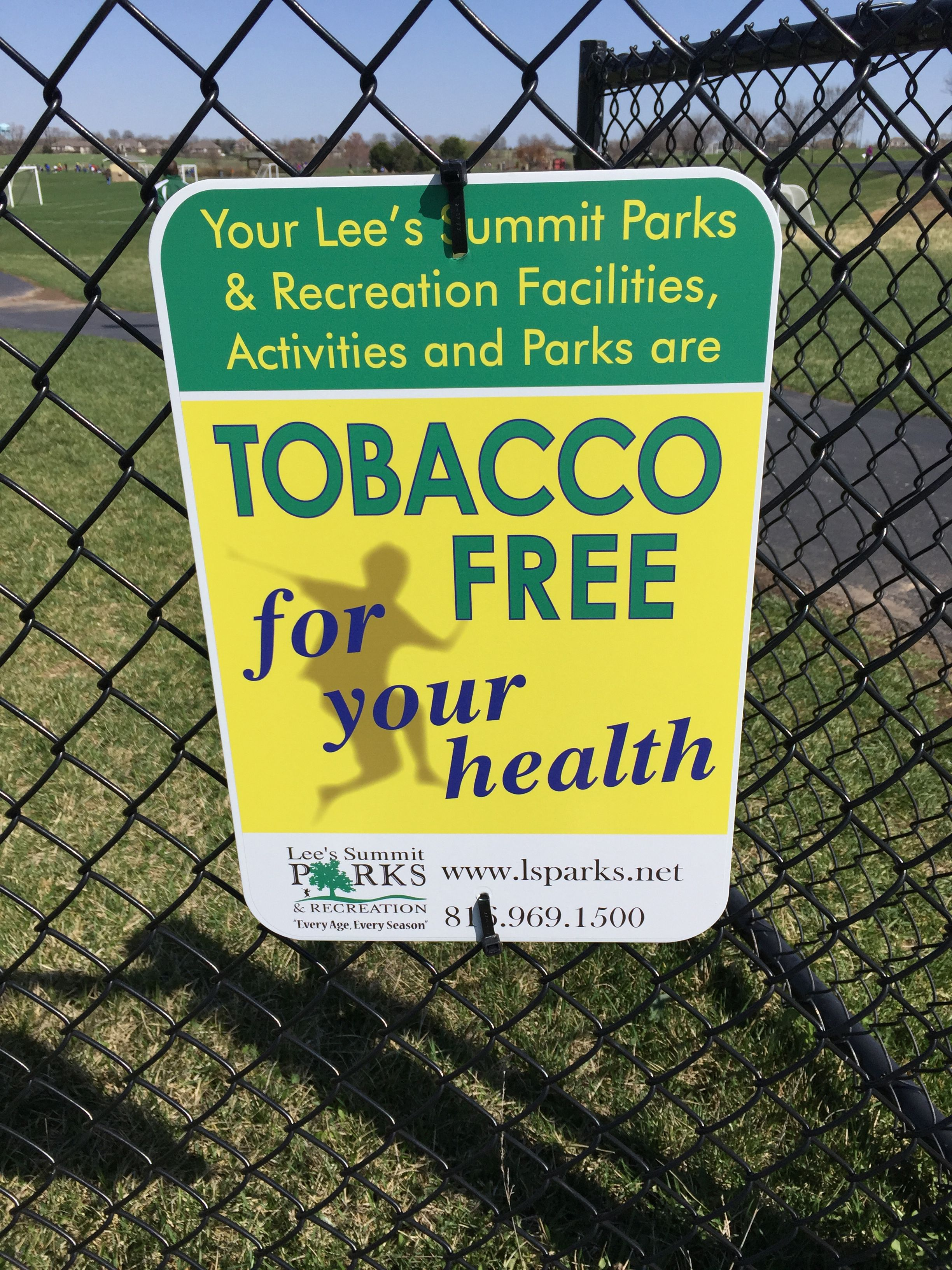 Great job lees summit parks rec tobacco free parks
