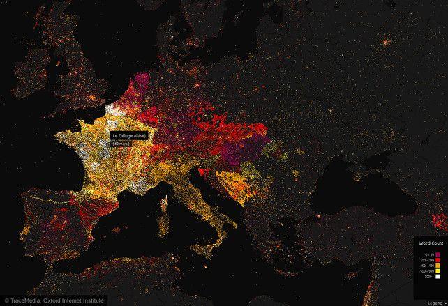 A Glowing Map Of Wikipedia S Worldwide Community Visualisation