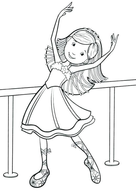dibujo para colorear angelina ballerina para little ballet dancer ...