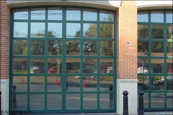 Beau Glass Garage Doors At A Firehouse In Edison