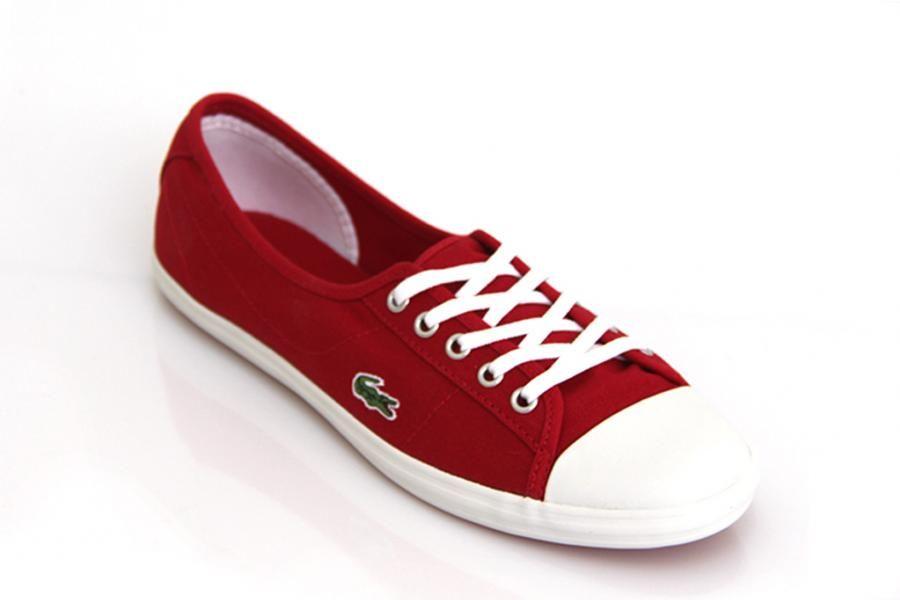 Lacoste Ziane Ca Rojo Lona De Mujer Compra Online Deportivos Zapatos Lacoste Mujer Zapatos Lacoste Tenis Lacoste Mujer