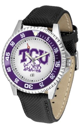 Texas Christian Horned Frogs Competitor Men's Watch with Nylon / Leather Band