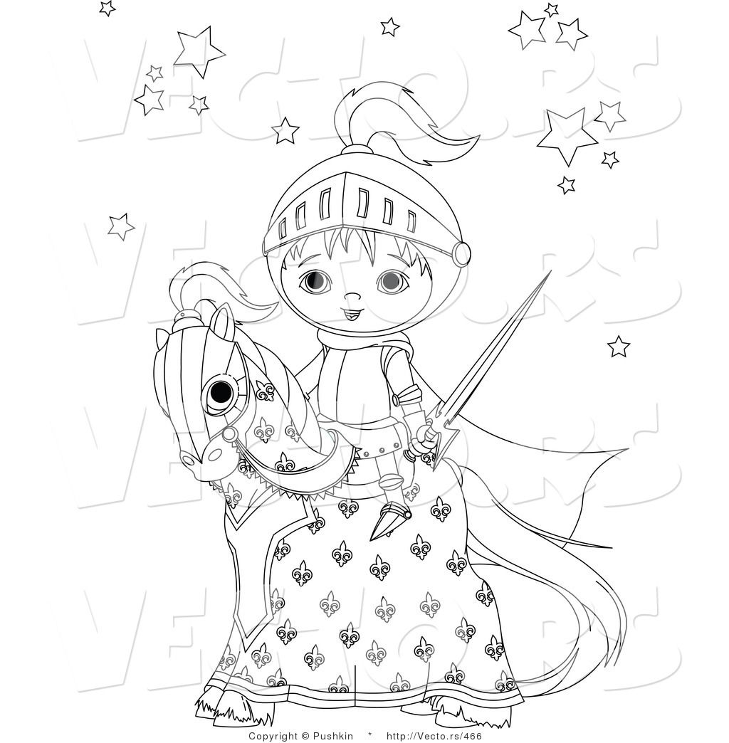 Baby Horse Coloring Pages Coloring Pages Vector Of Baby Knight On