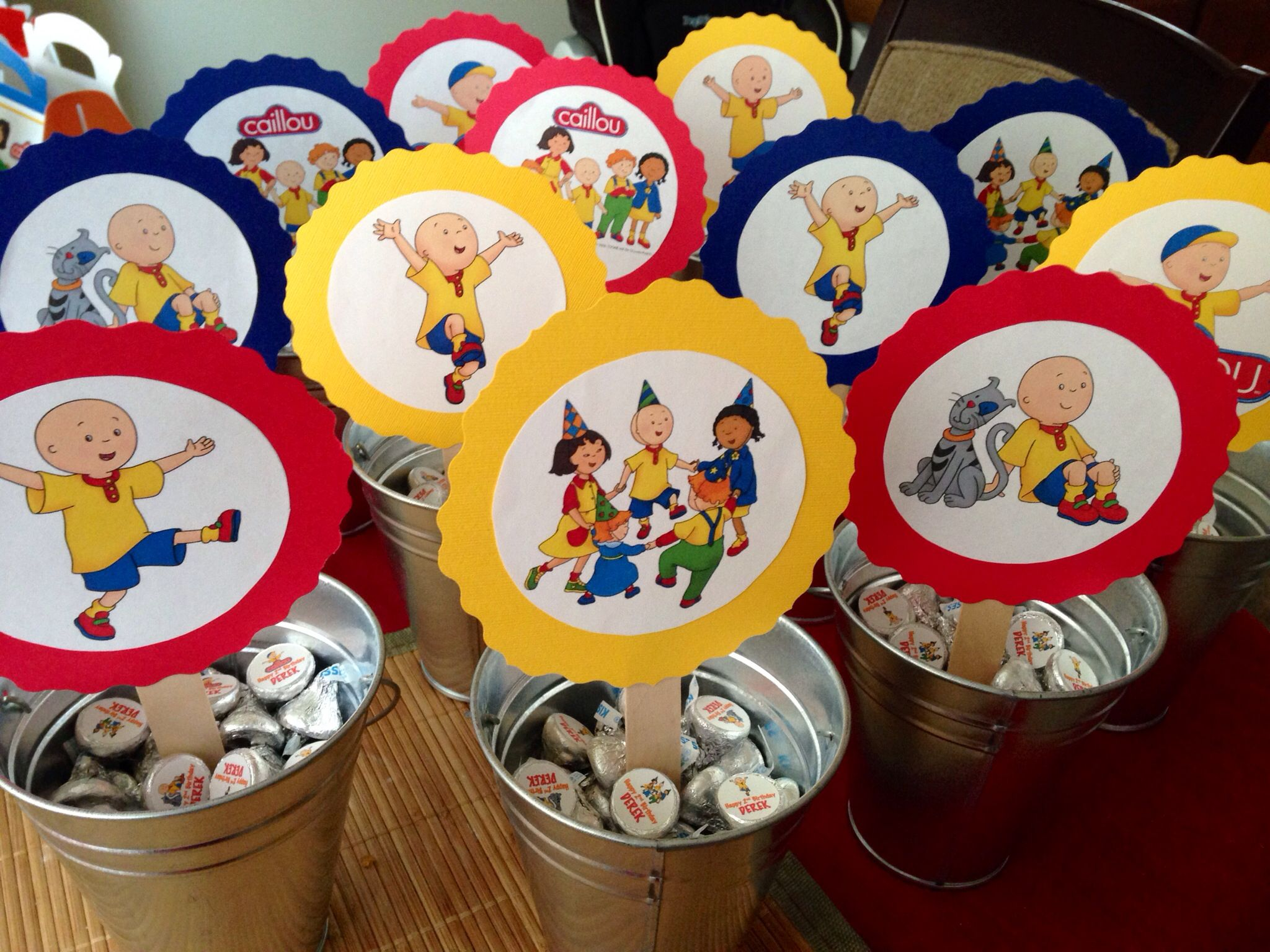 Caillou Birthday Party Centerpieces