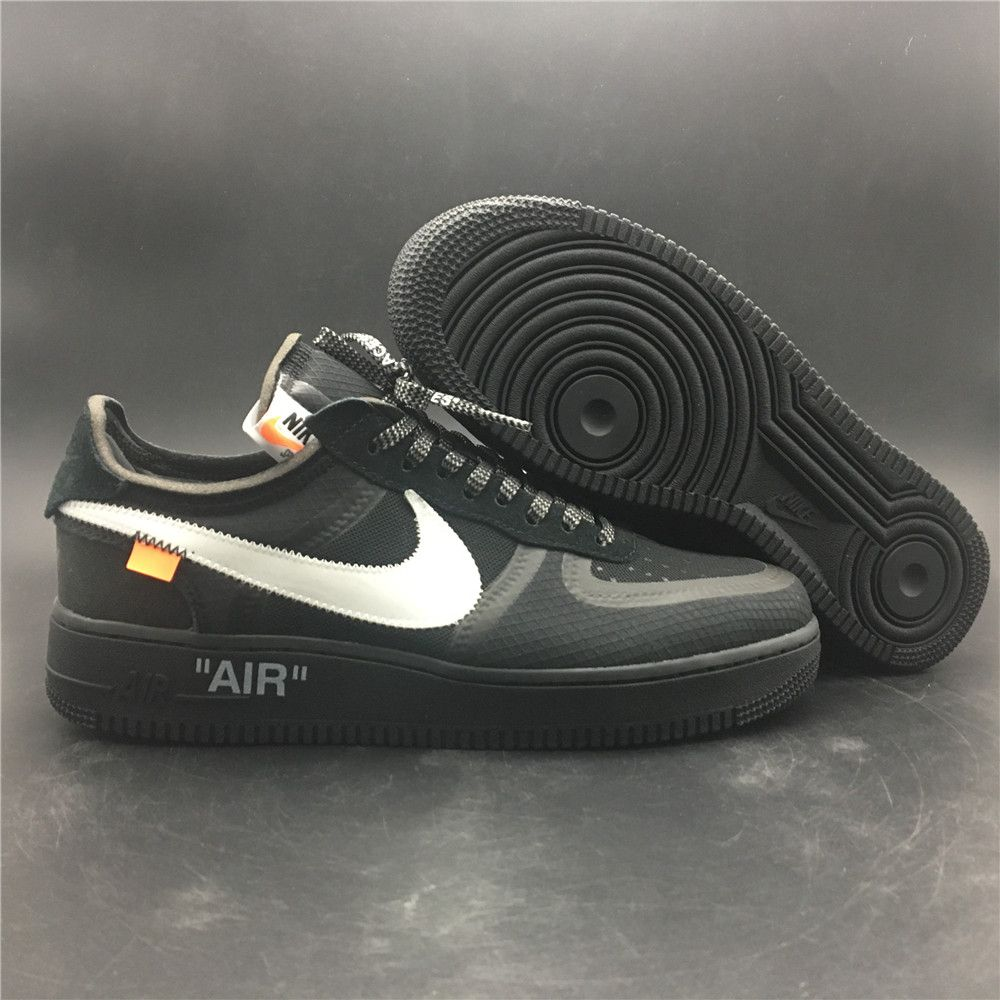 530f037ec1f23 Off-White x Nike Air Force 1. Black Colorway. Brand New in Original Box.