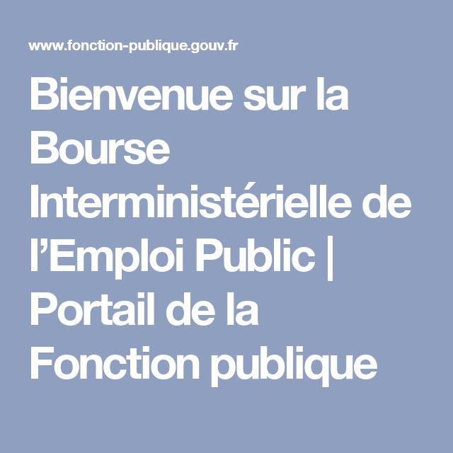 2499b593b66 Bienvenue sur la Bourse Interministérielle de l Emploi Public ...