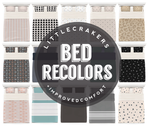 by littlecrakers - Recolora Palooza : bed recolors, pilows, paintings, rugs