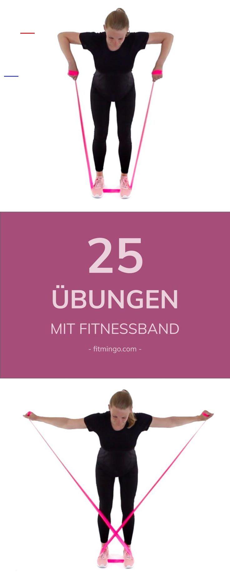 25 Übungen mit Fitnessband Nur mit einem Fitnessband, kannst du deinen ganzen Körper trainieren. Bei...