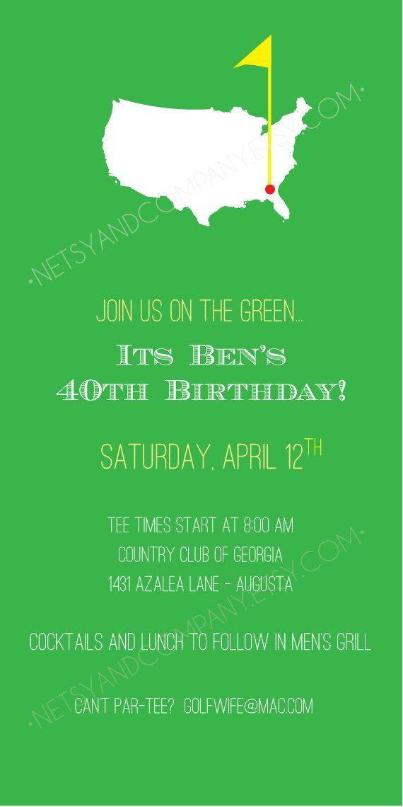 Golf Green Birthday Argyle Masters Adult by NetsyandCompany