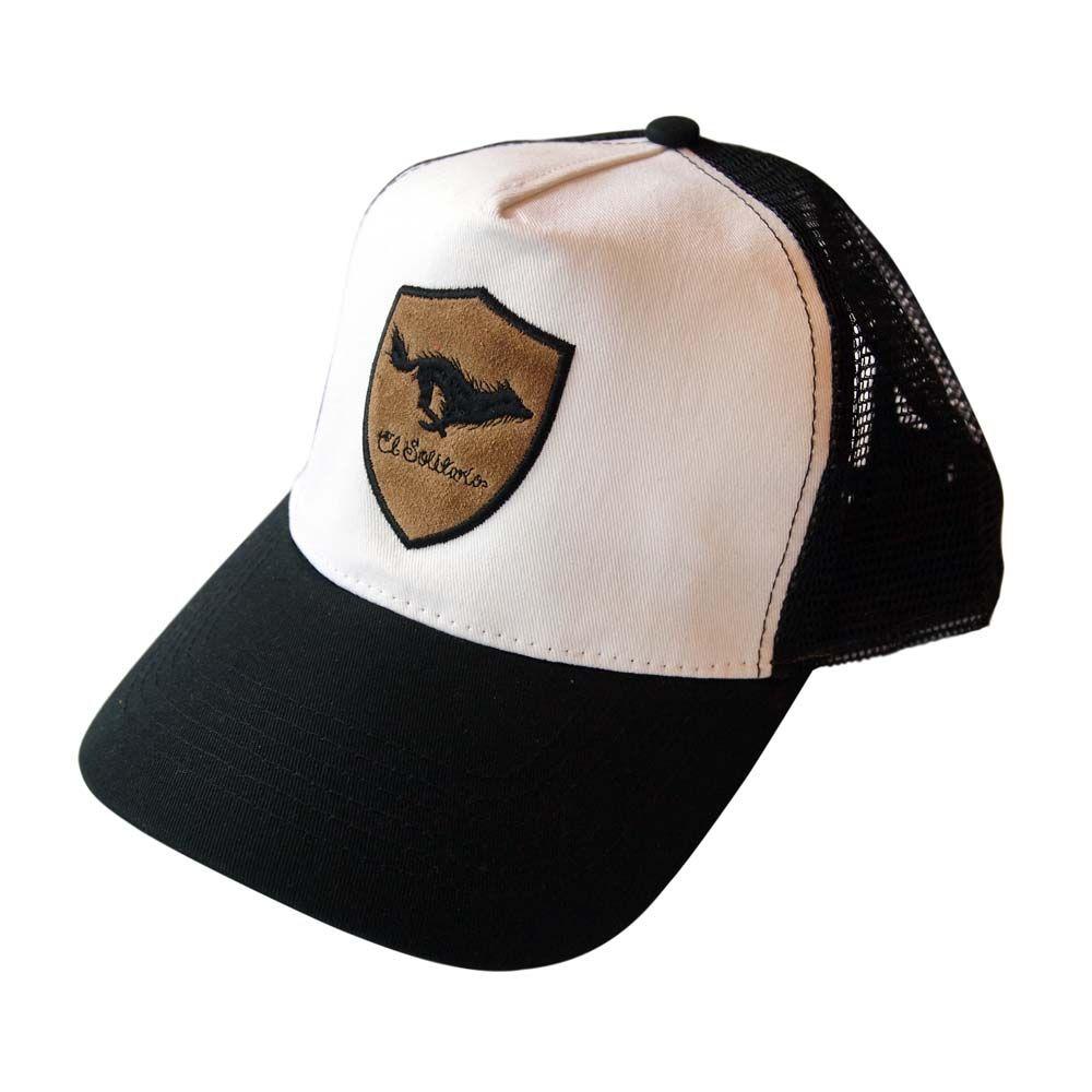 abcdf979b El Solitario Lone Wolf Cap - Black/White | Motorcycle Hats | The ...