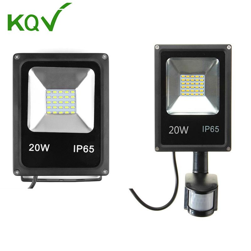 Led Flood Light 10w 20w 30w 50w 100w Waterproof Pir Motion Sensor Led Floodlight Refletor Spotlight For Outdoor Lig Led Flood Lights Outdoor Lighting Led Flood
