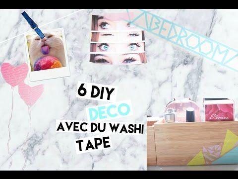 6 DIY DECO AVEC DU WASHI TAPE ! - YouTube