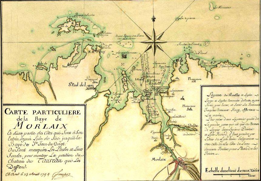 baie de morlaix carte Plan de la baie de Morlaix | Morlaix