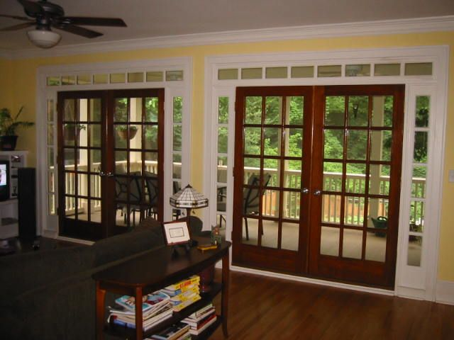 Wood French Doors Sliding Glass Door Replacement Love The Window Trim Around