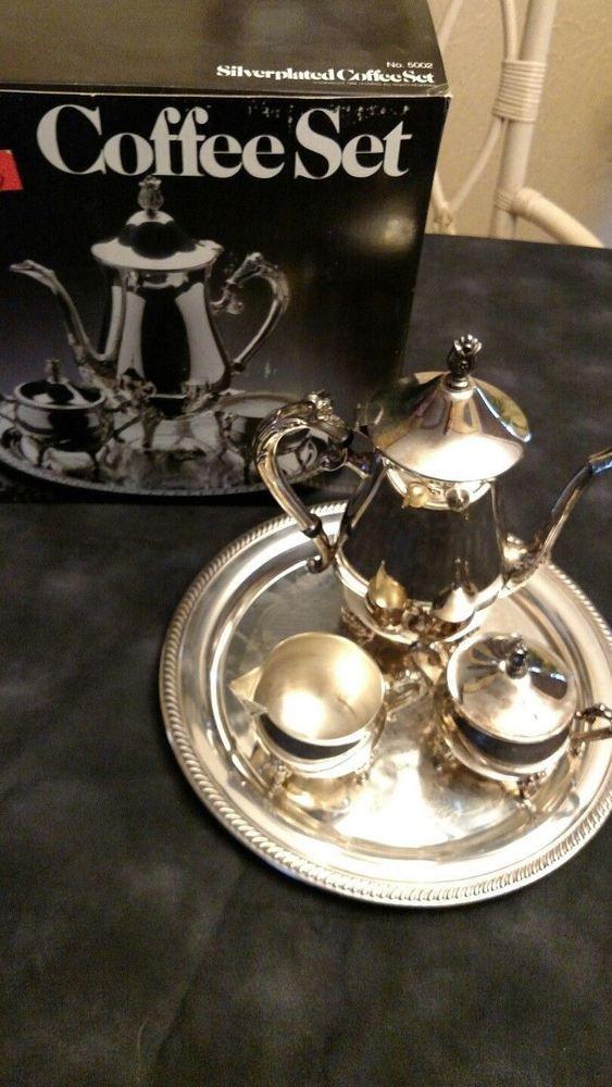 Leonard Silver MFG Silver Plated Coffee Set No 5002
