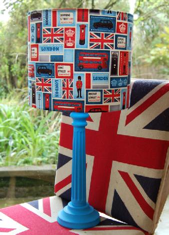 Best of british lampshade lonodon print fabric lampshade made in best of british lampshade lonodon print fabric lampshade made in uk shady lady aloadofball Gallery