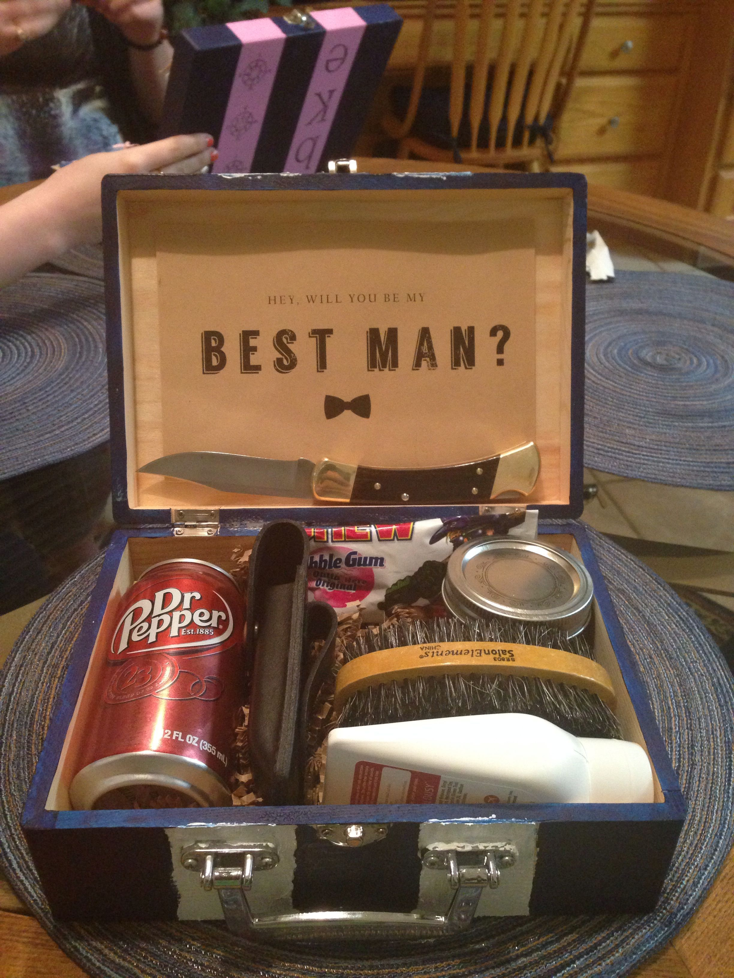Diy best man gift wedding groomsman groomsmangifts